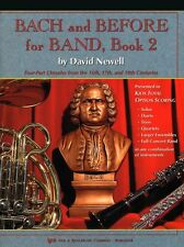 """""""BACH AND BEFORE FOR BAND"""" BARITONE T.C. MUSIC BOOK 2-INSTRUCTIONAL ON SALE NEW!"""