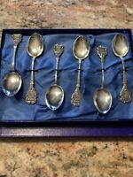 Vintage Silver-Plated SS Doric Home Lines Spoon Set