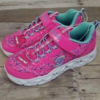 S Sport Skechers Girls Stars Lights Up Shimmer Sneakers Pink Youth Size 2, 3 , 4