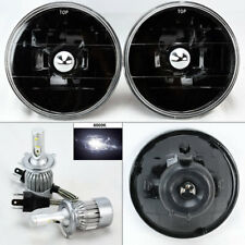 "5.75"" 5 3/4 Round Black Glass Headlight Conversion w/ 6K 36W LED H4 Bulb Pontiac"