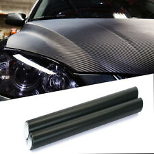 3D Car Black Interior Accessories Panel Carbon Fiber Vinyl Wrap Sticker 30*127cm