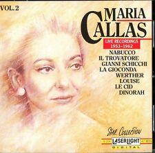 Maria Callas: Live Recordings 1953-1962, Vol.2; Laserlight 1990