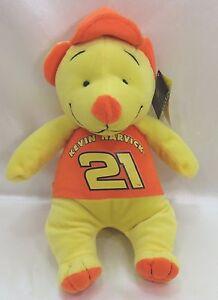 "NASCAR #21 Kevin Harvick Accelerator Bear 13"" Plush Stuffed Animal New w/ Tags"