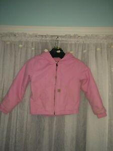 Girls Pink Carhartt Sherpa Lined Coat size 6xs