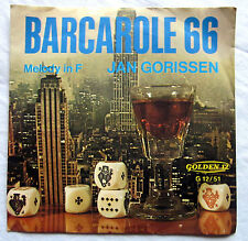 "7"" Vinyl Single: BARCAROLE 66 - Jan Gorissen"