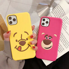 Cute Cartoon Bear Silicone Phone Case Cover For 11 Pro Max XR 8 7 Plus SE 2020