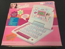 2002#Mattel Barbie B-Bright Laptop Computer Talking Learning Toy PC PORTATILE[L]