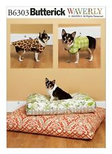 Butterick Sewing Pattern B6303 Dog Vest Coat SZ S-XL and Pet Bed In 2 Sizes