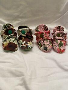 Newborn Baby Booties (Floral)