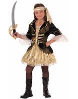 Golden Seas Girls Child Pirate Buccaneer Halloween Costume