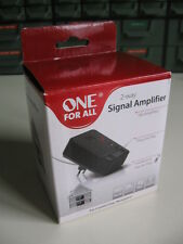 2 way radio tv signal amplifier VHF FM 20 dB gain amplificatore antenna + cable.