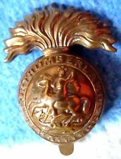 Badge-WW1 Royal Northumberland Fusiliers Regiment Cap Badge (All BRASS,Genuine*)