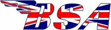 BSA UNION JACK MOTORCYCLE DECAL / STICKER - SET OF 2