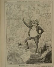 """7x10 """"Punch Cartoon 1891 Señor Punch bebidas para el año de edad"""