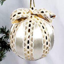Ornaments Christmas Vintage 1976, 1981 Golf Tees Snow Man, Ribbon & Tassel, Bows