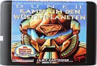 Dune II (1994) 16 Bit Game Card For Sega Genesis / Mega Drive System