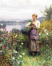 Ladies Gathering in Flower Garden Daniel Ridgeway Knight