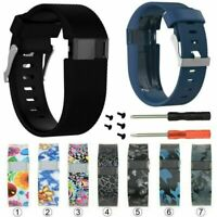 Silicone Wristband Band Strap Bracelet Bangle For Fitbit Charge HR Tracker Watch