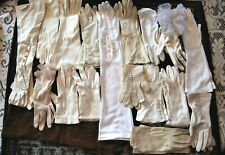 """18 Vintage Ladies Glove Lot, 22"""" Opera, Leather, Stretch, Lacy, Rayon, Cotton"""