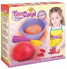 TrueDOUGH - Make Your Own Modelling Dough Play Doh Craft Kit Single Fire Red