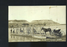 REAL PHOTO WILLISTON NORTH DAKOTA RIVER FETTY BOAT HORSE BUGGY POSTCARD COPY