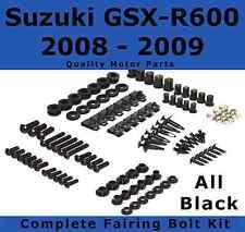Complete Black Fairing Bolt Kit body screws for Suzuki GSX-R 600 2008 2009 GSXR