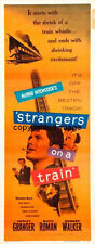 Strangers On A Train Movie Poster Insert 14x36 Replica