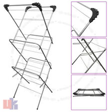 3 Tier 12m Cloth Airer Tower Indoor Outdoor Dryer Laundry Folding Rack Tall UKED