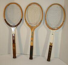 Vintage Women's wood tennis racquet group Chris Evert and Rosie Casals