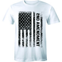 2nd Amendment American Flag T Shirt Patriotic Gun Rights Support Weapon Mens Tee
