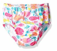 Medium 6-12M with Side Snaps Swim Time Boys Baby Reusable Swim Diaper UPF 50 White Jungle Book//Animals Green