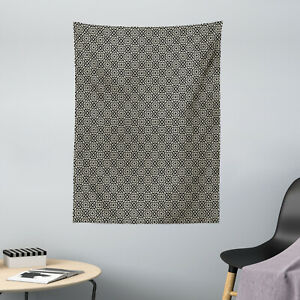 Moroccan Microfiber Tapestry Repeating Floral Geometric