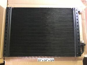 Condenser Universal O'ring Parallel Flow 23'' x 14'' x 3/4'' Black Finish