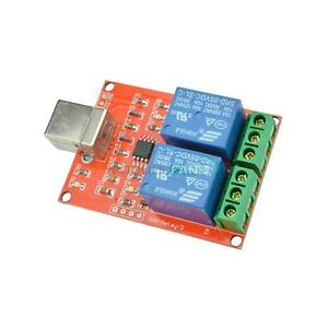USB 5V Relay 2 -Channel Programmable Computer Control For Smart Home
