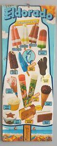 Eldorado insegna tabella dei gelati latta prezzi lire pubblicità epoca