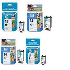 4 Genuino HP 14 Cartuchos de tinta color 2X 2X 14 Negro 7110 7130 7140 Envío rápido