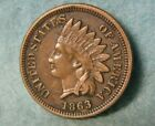 1863 Civil War Indian Head Penny Small Cent Sharp High Grade United States Coin for sale