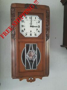 0328 - French Vedette Westminster  chime wall clock NOT Odo