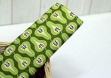Scandinavian Peras Verde 100% Algodón Tela Remanente 56cm x45cm G recortes de acolchar