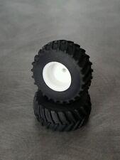 1/64 Farm custom scratch 800/70R38 tractor tires white rims (1 pair)