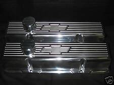 BowTie Ball Mill Chevy Small Block Tall  Aluminum Valve Covers Breather PCV Kit