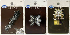 3 x GOODY - LUXE RANGE - HAIR CLIP/CLASP/COMB **** Brand New ****