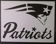 "New England Patriots 11"" x 8.5"" Custom Stencil FAST FREE SHIPPING"