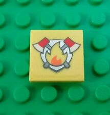 *NEW* Lego Fire Station Emblem Fire Fighter  Minifigs Figs Figure x 1 piece