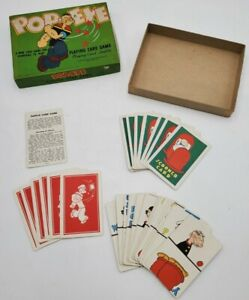 Vintage 1934 Popeye Playing Card Game Complete with Instructions