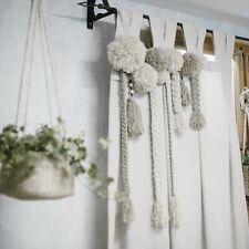 Landhaus Gardinenschal, Vorhang mit Pompoms