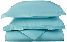 Superior Teal King Bed 3 Piece Duvet Cover and Pillowcase Set Cotton Rich