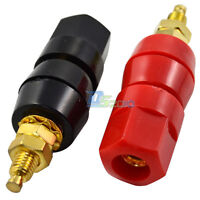 2pcs Speaker Amplifier Terminal Binding Post Banana Plug Cable Jack Socket Audio