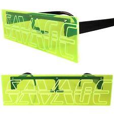 Savage Engraved Party Rave Festival Costume Futuristic Neon Green Sunglasses