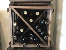 Rustic Reclaimed WOOD Wine Rack Wine Gift Bar Restaurant Farmhouse Country Decor
